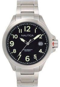 Srebrny zegarek Nautica