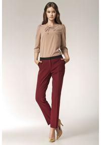 Czerwone spodnie Nife eleganckie