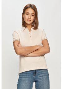 Różowa bluzka Geox z aplikacjami, na co dzień, casualowa