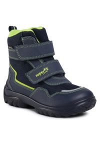Niebieskie buty zimowe Superfit z cholewką, na spacer