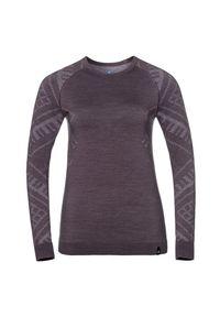 Bielizna Odlo Natural Shirt Long Sleeve W 110711. Materiał: włókno, materiał, syntetyk. Długość rękawa: długi rękaw. Długość: długie