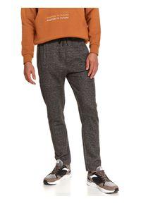 TOP SECRET - Spodnie dresowe joggery. Kolor: szary. Materiał: dresówka. Sezon: jesień