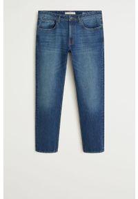Niebieskie jeansy Mango Man z aplikacjami