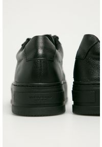 vagabond - Vagabond - Buty skórzane Judy. Nosek buta: okrągły. Zapięcie: sznurówki. Kolor: czarny. Materiał: skóra. Obcas: na platformie