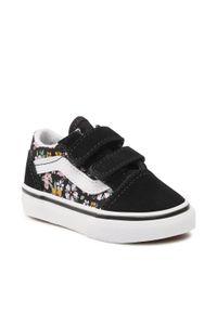 Vans - Tenisówki VANS - Old Skool V VN000D3Y99D1 (Fun Floral) Black/Tr Wht. Kolor: czarny. Materiał: zamsz, materiał, skóra