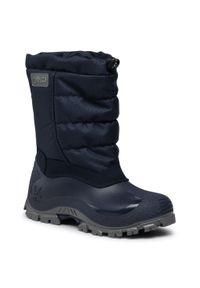 Niebieskie buty zimowe CMP z cholewką