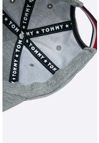 Szara czapka z daszkiem TOMMY HILFIGER