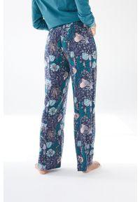 Women Secret - women´secret - Spodnie piżamowe. Kolor: niebieski. Materiał: dzianina