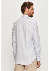 Niebieska koszula Tommy Hilfiger Tailored z klasycznym kołnierzykiem, długa, klasyczna