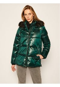 Zielona kurtka puchowa DKNY