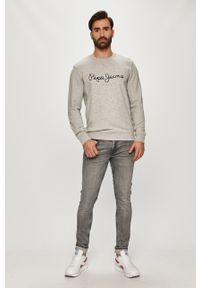 Szara bluza nierozpinana Pepe Jeans na co dzień, casualowa