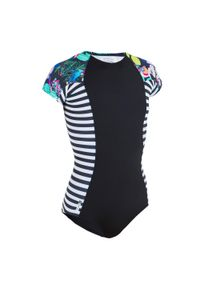 OLAIAN - Kostium Kąpielowy Jednoczęściowy Julie 500 Paradise Dla Dzieci. Kolor: czarny
