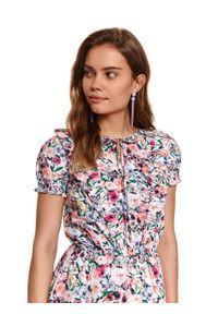 Brązowa sukienka TOP SECRET gładkie, koszulowa