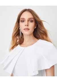 ALEXANDRE VAUTHIER - Biała sukienka z baskinką. Okazja: na randkę, na imprezę. Kolor: biały. Materiał: materiał. Typ sukienki: baskinki. Styl: wizytowy. Długość: mini