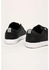 Czarne buty sportowe ANSWEAR z cholewką, na średnim obcasie