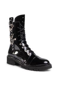 Czarne buty trekkingowe Eva Minge z aplikacjami