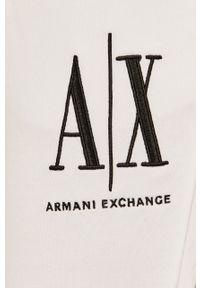 Białe spodnie dresowe Armani Exchange z nadrukiem #4