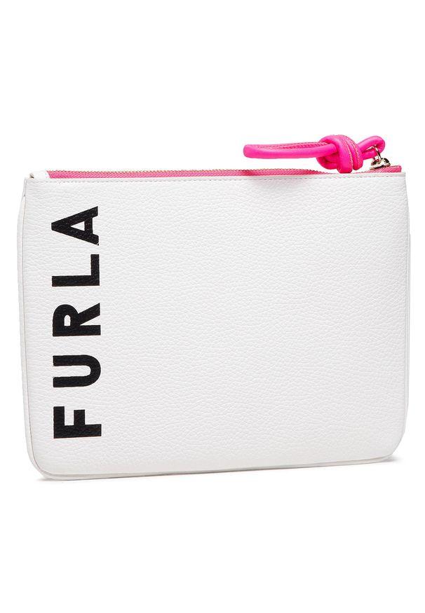 Furla - Torebka FURLA - Essential WE00154-A.0486-0398S-1-007-20-CN-E Talco. Kolor: biały. Materiał: skórzane