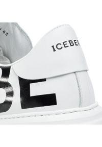 Białe półbuty Iceberg casualowe, z cholewką