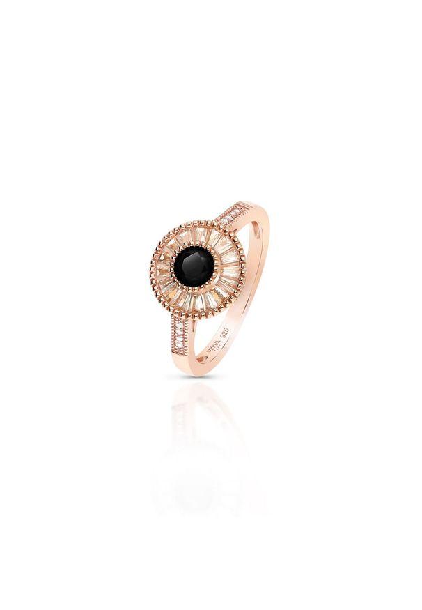 Srebrny pierścionek W.KRUK srebrny, z cyrkonią