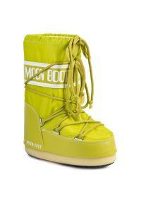 Moon Boot - Śniegowce MOON BOOT - Nylon 14004400070 Lime M. Zapięcie: sznurówki. Kolor: zielony. Materiał: skóra ekologiczna, materiał. Szerokość cholewki: normalna. Sezon: zima