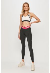 Czarne legginsy Nike z nadrukiem