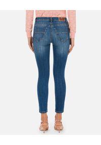Elisabetta Franchi - ELISABETTA FRANCHI - Niebieskie jeansy skinny. Kolor: niebieski