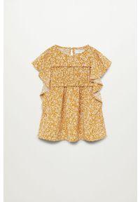 Żółta sukienka Mango Kids na co dzień, prosta