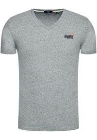Superdry T-Shirt Classic M1010209A Szary Slim Fit. Kolor: szary