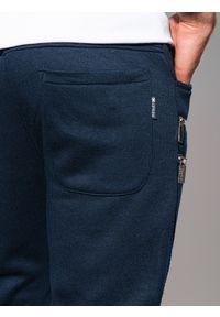 Niebieskie spodnie Ombre Clothing z aplikacjami