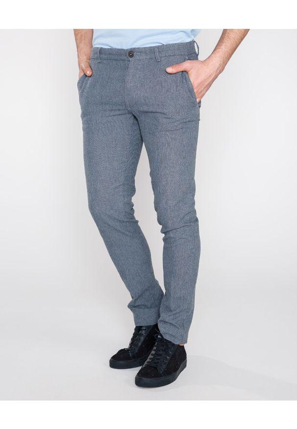 Niebieskie spodnie Trussardi Jeans w kolorowe wzory