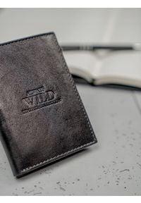 ALWAYS WILD - Portfel męski skórzany Always Wild N104-GTC czarny. Kolor: czarny. Materiał: skóra