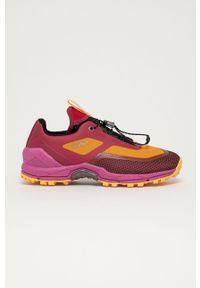 Fioletowe buty trekkingowe CMP z okrągłym noskiem, na sznurówki, z cholewką