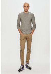 Only & Sons - Sweter. Okazja: na co dzień. Kolor: szary. Materiał: dzianina. Styl: casual #5
