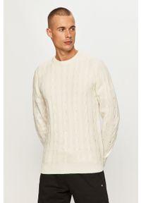 Biały sweter Brave Soul z okrągłym kołnierzem