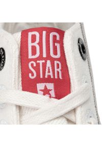 Białe półbuty Big-Star z cholewką