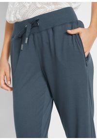 Niebieskie spodnie bonprix melanż, sportowe, długie