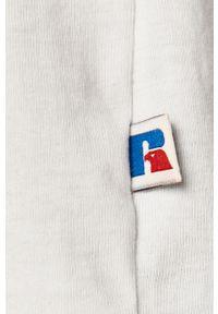 Biały t-shirt Russell Athletic z nadrukiem, na co dzień, casualowy