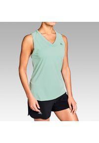 Zielona koszulka do biegania KALENJI bez rękawów