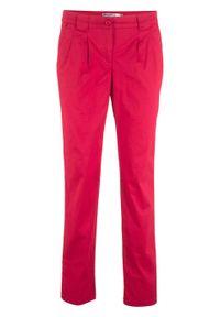 Czerwone spodnie bonprix w kwiaty, na co dzień, z obniżonym stanem, casualowe