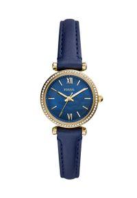 Fossil - FOSSIL - Zegarek ES5017. Kolor: niebieski. Materiał: skóra, materiał