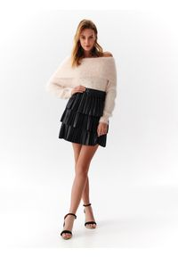 Różowy sweter TOP SECRET z długim rękawem, długi