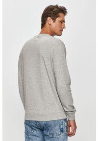 Szara bluza nierozpinana Pepe Jeans casualowa, na co dzień, z nadrukiem, z okrągłym kołnierzem