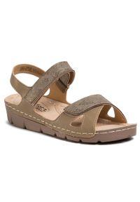 Beżowe sandały Comfort Basic casualowe, na co dzień
