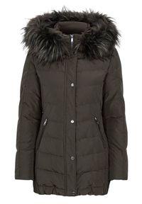 Brązowa kurtka SAKI na zimę, elegancka