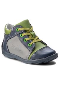RenBut - Trzewiki RENBUT - 13-1442 Jeans/Zielony. Kolor: wielokolorowy, szary, niebieski. Materiał: skóra. Sezon: zima, jesień