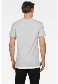 G-Star RAW - G-Star Raw - T-shirt. Kolor: szary. Materiał: materiał. Wzór: nadruk