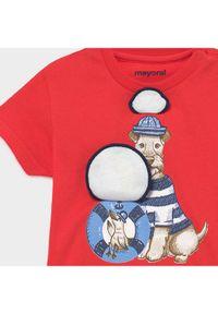 Mayoral T-Shirt 1007 Czerwony Regular Fit. Kolor: czerwony