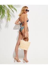 Camilla - CAMILLA - Wiązany dół od bikini Animal Army. Stan: obniżony. Kolor: zielony. Materiał: tkanina. Wzór: motyw zwierzęcy, aplikacja, nadruk