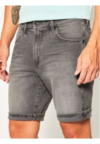 Wrangler Szorty jeansowe 5 Pocket W14CU311R Szary Slim Fit. Kolor: szary. Materiał: jeans